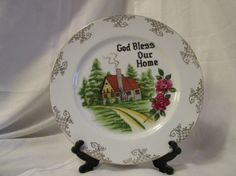 Vintage God Bless Our Home Decorative by SomethingGeeshy on Etsy
