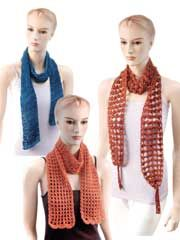 Charlotte Collection Easy Tunisian Lace Scarves Crochet Pattern