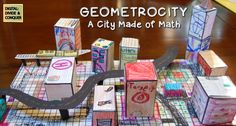 In class math projects are a great way to show real-world understanding.  Students create/build a city and while using geometry skills.