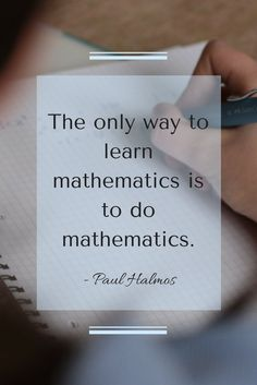 Nothing better than an inspirational math quote.  Maybe this could motivate my middle school math, algebra, and geometry students.