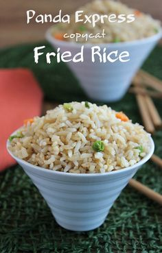 Panda Express has some good fast food and the base of almost all of them is Fried Rice. Fast and simple. Just spoon it up as is or add more soy sauce.