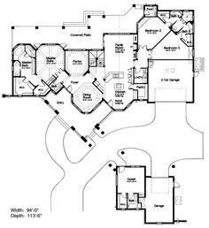 259 best Unique Floor Plans images on Pinterest | House plans and ...