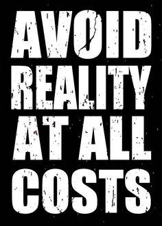 Amazon.com - Sixtrees Avoid Reality Box Sign - Professional Art Frame Kitssixtrees Usa Ltd