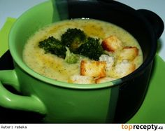 Brokolicová polévka se sýrem a smetanou What To Cook, Cheeseburger Chowder, Thai Red Curry, Mashed Potatoes, Food And Drink, Soup, Cooking, Ethnic Recipes, Kitchens