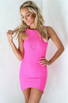 Textured Pink Dress | SABO SKIRT