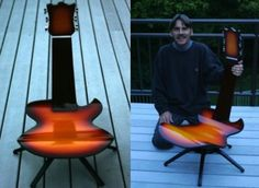Guitar Chair From Metz Functional Art