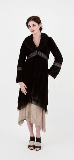Steampunk coat -  Evening On The Ferry Coat in Black by Nataya $252.00 AT vintagedancer.com