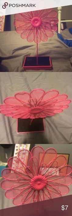 Flower jewelry holder Dark pink jewelry holder, Jewelry