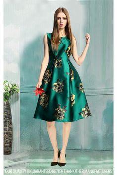 Readymade Satin Western Wear Dress - 30060