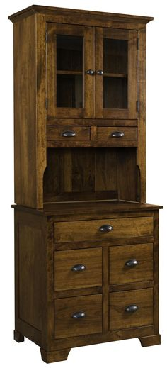 Amish Rustic Cherry Little Mandie Hutch from Granny Jane's Wood Shed-Made in the USA Rustic Country Furniture, Rustic Decor, Rustic Style, Farmhouse Furniture, Custom Furniture, Online Furniture, Amish Furniture, Wooden Furniture, Cherry Furniture