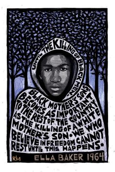 Trayvon Martin Poster featuring the mixed media Trayvon Martin by Ricardo Levins Morales