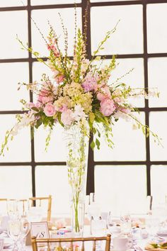 Tall Centerpieces, Wedding Flowers Photos by Heather Scharf Photography