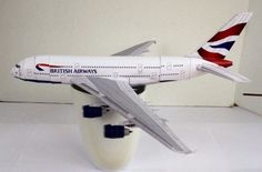 British Airways Airbus A380-800 Free Airplane Paper Model Download