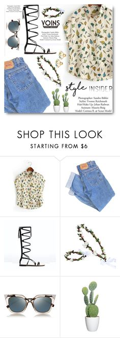 """""""YOINS"""" by angelstar92 ❤ liked on Polyvore featuring Levi's and Fendi"""