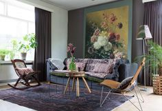 prints in de woonkamer | patterns at the livingroom | vtwonen 12-2016 | photography: Anouk de Kleermaeker | styling: Leonie Mooren
