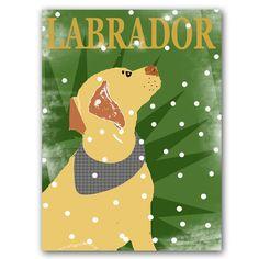Yellow labrador retriever dog gazing the snow ideal by ialbert, $30.00