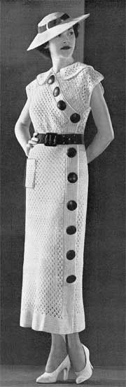1935Crochet and Knit Dresses, Blouses & Hats  11 Swing Era Vintage Patterns  Royal Society Book No. 40