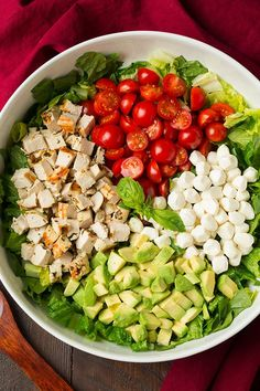 Lower Excess Fat Rooster Recipes That Basically Prime Caprese Chicken And Avocado Chopped Salad Cooking Classy Best Healthy Dinner Recipes, Low Carb Dinner Recipes, Vegetarian Recipes, Cooking Recipes, Kale Recipes, Cooking Tips, Avocado Recipes, Caprese Chicken, Chicken Salad Recipes