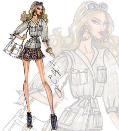 Hayden Williams Fashion Illustrations | Wildlife Safari by Hayden Williams: Look 1