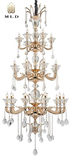 Luxury hanging chandelier in gold - collection Sugar Dream