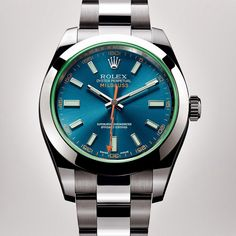 Rolex watches are available at Deutsch & Deutsch in Houston, Laredo, McAllen & El Paso, Texas. The Rolex Milgauss 40 mm in 904L steel with a smooth bezel, Z blue dial, green sapphire crystal and Oyster bracelet.