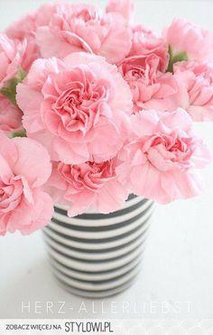 black + white striped vase