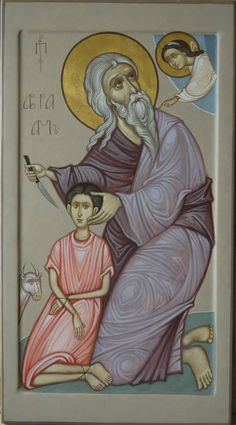 MAXIM SHESHAKOV, The Sacrifice of Isaac. Egg tempera on gessoed panel.