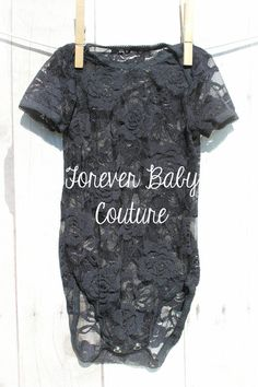 Black Lace Onesie - Baby Girl Lace Onesie - Baby Onesie - Lace - Newborn Baby Infant Photo Prop - Girls Lace Onesie - Baby Lace Onesie on Etsy, $14.99