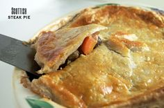 Steak pie is a hearty, rich meal of braised beef baked in a puff pastry. It's perfect for Hogmanay or any other holiday. Click for recipe