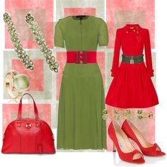 reds and greens frames, created by cristina1207 on Polyvore