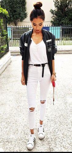 Full length white denim women jeans ripped in knees high waist slim & elastic fashion skinny jeans sculpt punk jeans bottoms up
