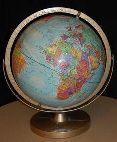 "Vintage Replogle World Nation Series 12"" World Globe Raised Relief USSR"
