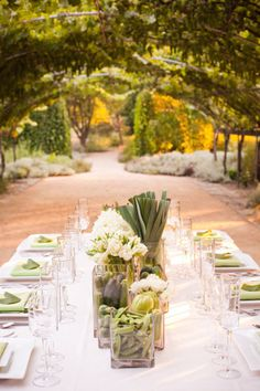 veggies and florals decorating this farm to table dinner Photography by Jessamyn Harris / jessamynharris.com, Styling and design by http://aliciakdesigns.com/ #SMPLiving