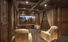 "Shadow Peak offers endless entertainment. The home theater comes equipped with a 100"" scree, top-of-the-line Runco projector, variable lighting, acoustically-treated walls and more!  #SupremeAuction #LuxuryAuction #Scottsdale #Phoenix #Arizona #ScottsdaleRealEstate #SonoranDesert #ArizonaRealEstate #Troon #TroonVillage #Auction #Artesano #TroonGolf #TroonCountryClub #DesertViews #RealEstate #luxuryrealestate"