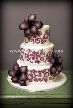 eggplant flower cake