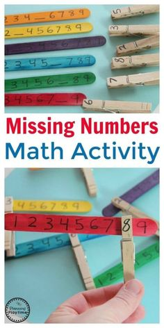 Number Math Activity - Planning Playtime Missing Number Math Activity - Planning PlaytimeMissing Number Math Activity for kids. So fun!Missing Number Math Activity - Planning PlaytimeMissing Number Math Activity for kids. So fun! Numeracy Activities, Preschool Learning Activities, Kindergarten Activities, Kids Learning, Learning Games, Baby Activities, Activities For Students, Number Games For Kindergarten, Fine Motor Activities For Kids