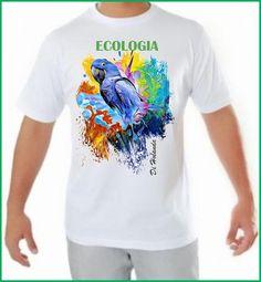 Camiseta fio 30 - PMG - Malha fria - Padrão com arte Di Holanda  Unidade R$ 49,90