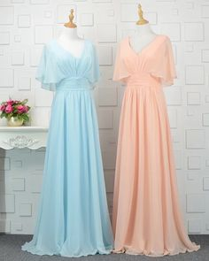 Apr 2020 - Modest Bridesmaid Dresses With Sleeves,chiffon Bridesmaid Dress,floor Length Evening Gowns,Simple Ch on Luulla Bridesmaid Dresses With Sleeves, Elegant Bridesmaid Dresses, Modest Dresses, Simple Dresses, Pretty Dresses, Bridesmaid Gowns, Chiffon Evening Dresses, Evening Gowns, Simple Evening Gown