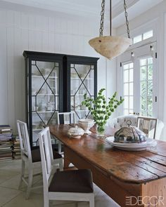 Darryl Carter - black, white with a big ole' rustic farm table