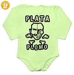 Strange Plata O Plomo Artwork Baby Long Sleeve Romper Bodysuit XX-Large - Baby bodys baby einteiler baby stampler (*Partner-Link)