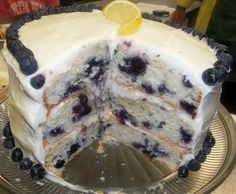 It's All About a Good Recipe: Blueberry Cake with Lemon Cream Cheese Icing