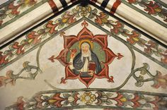 The ceiling frescoes Santa Anastasia, Gaudi, Ceilings, Fresco, Princess Zelda, Painting, Fictional Characters, Beautiful, Art