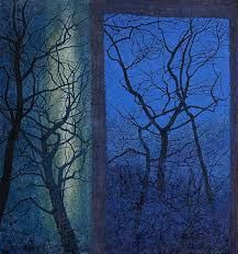 """""""Victoria Crowe, contemporary Scottish artist known for her portrait and landscape paintings Tree Artwork, Collage Art Mixed Media, National Portrait Gallery, Landscape Paintings, Landscapes, Female Art, Zentangle, New Art, Cool Art"""