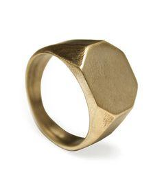 Signet Ring III SAVVY // brass