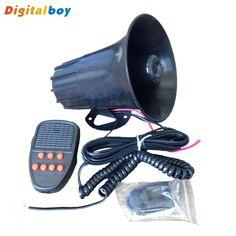 Brand Digitalboy 12V 50W 105db Tone Vehicle Boat Car Motor Motorcycle Siren Loud Car Horn Auto Speaker Alarm 2016 High quality !