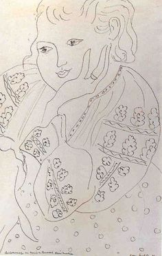 The Romanian Blouse, one of a series of drawings by Matisse