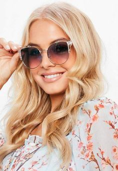 675ba8923033 Missguided Blue Clear Frame Cat Eye Sunglasses Cat Eye Sunglasses
