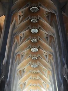 Divine Architecture    Detail from the Sagrada Familia Cathedral in Barcelona