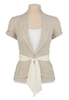 I bought a jacket similar to this one at Goodwill, but it needs so revamping on the closure.  I think I'll add this belt!