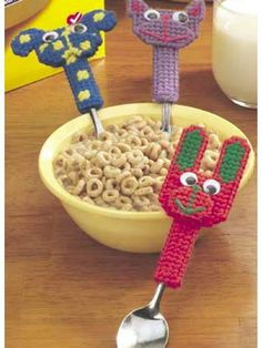 Plastic Canvas - Kitchen & Dining - Animal Spoon Toppers